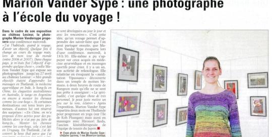 Article La Voix du Nord 21 avril 2013